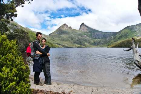 Michiel and Aline at Cradle Mountain